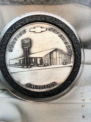 Chevy dealer sterling silver award coin service supremacy facilities