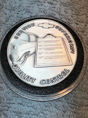 Chevy dealer sterling silver award coin service supremacy quality control