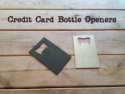 Credit Card Size Bottle Opener THIN Stainless Steel Blade For Your Wallet Purse