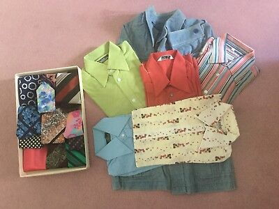 Bundle Vintage 1960'S Shirts And Ties From Carnaby Street