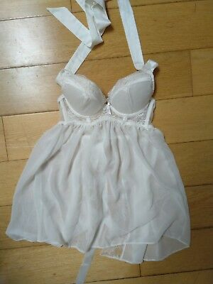 An Summers 10 White Babydoll Halter Neck