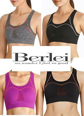 Berlei Seamfree Sports Bra Crop Top Fully Adjustasble Fit  YZ7P  RRP £31