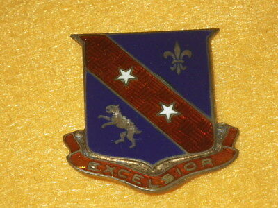 ORIGINAL 1930s-WWII 322nd Infantry Regiment DI/DUI, NHM - Sterling, PB
