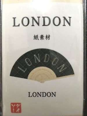 "Daiso Folding fan ""LONDON"" Abanico F/S"