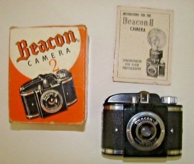 VINTAGE 1950s BEACON II CAMERA IN GOOD CONDITION IN ORIGINAL BOX & INSTUCTIONS