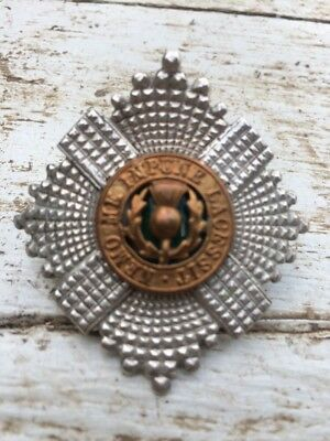 Silver Officers Cap Badge Of The Scots Guards.