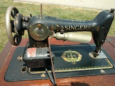 1910 Lotus Singer Sewing Machine With Parlor Cabinet