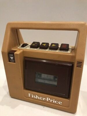 Vintage 1986 Fisher Price 826 Cassette Tape Recorder Player Brown Needs Tuning