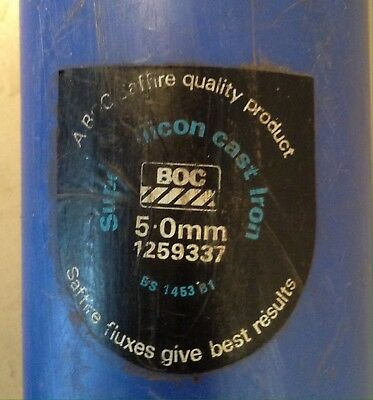 BOC Super Silicon Cast Iron Gas Welding Rods TWO KILO PACK (see details)