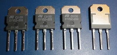4x STMicroelectronics BYV52-200 200V 30A Fast Recovery Rectifiers Doppeldiode