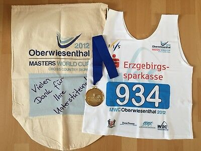 "Skilanglauf Goldmedaille + Trikot ""FIS Masters World Cup 2012"" cross country ski"