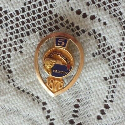 Lds / Mormon Primary Pin 1878 1/10 10K 5 Faith And Service