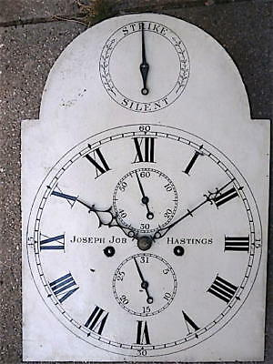 12X17inch 8DAY c1840 LONGCASE   CLOCK dial   movement