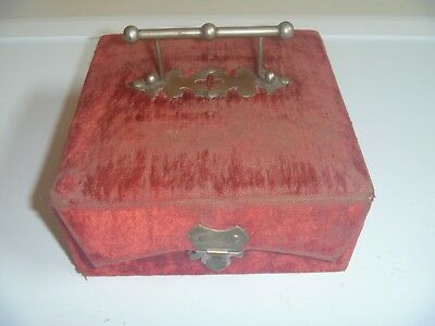 Vintage Antique Red Velvet Cadbury's Cocoa - Absolutely Pure Box