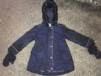 Ted Baker Winter Coat With Detachable Mittens Age 2-3 Years