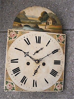 13X18+1/4inch 8DAY  c1840 LONGCASE   CLOCK dial + movement
