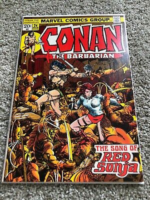 Conan the Barbarian 24 VF- 1st Red Sonja 1973