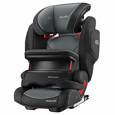Recaro Monza Nova IS Seatfix Group 1/2/3 Car Seat - Carbon Black