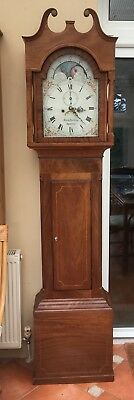 antique longcase grandfather clock With Moon Phase