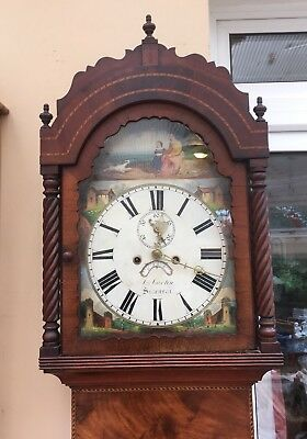 antique longcase grandfather clock By A Martin Swansea C1860. 8 Day