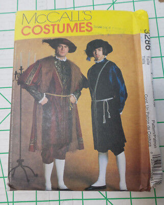 UNCUT McCall's Medieval Tudor Costume Pattern 3286 Size Y Small-Med-Large