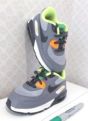 Grey NIKE AIR MAX baby/ toddler TRAINERS/ SHOES UK 6.5 infant - neon green