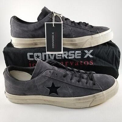 10fd14739133 Converse X John Varvatos One Star Ox Shoes SZ 13 Mens Suede Sneakers Gray  Cream