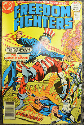 FREEDOM FIGHTERS #8 (May-June 1977 | Volume 1 | DC) Bronze Age - HIGH GRADE