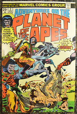 ADVENTURES ON THE PLANET OF THE APES #2 (Nov 1975 | Vol 1 | Marvel) - HIGH GRADE
