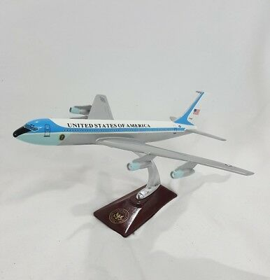 USAF Boeing 707 C137C Air Force One Airplane Desk Model stamped Reagan Library