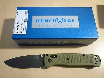 Benchmade 535GRY-1 Bugout - Smoked Gray S30V Blade Ranger Green Handle EDC Knife