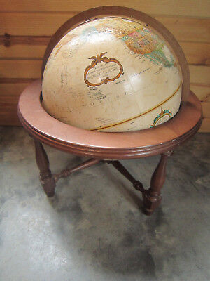 """Replogle Globe 12"""" World Classic with Wooden Stand Beautiful Condition"""