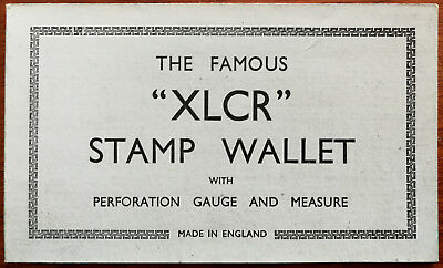 """Vintage Famous """"XLCR"""" Stamp Wallet with Perforation Guage and Measure"""