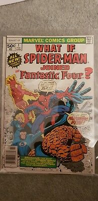 What If # 1  What if Spider-Man Joined the Fantastic 4 (four)? scarce book !