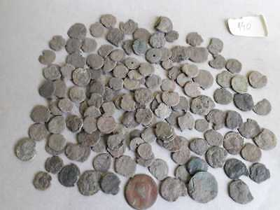 Lot Of 140 Ancient Bronze Roman Coins  Uncleaned Low Quality