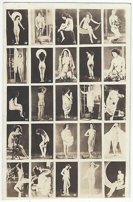 1920 French NUDE Photograph - Salesman Sample w/ Multiple Images