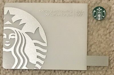 Starbucks 2010 Silver 40th Anniversary Card