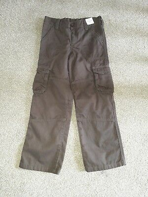 M&S Boys Brown Combat Trousers Age 6 - 7 BNWT