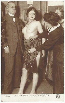 1920 French NUDE Photograph - Burlesque Dancer in Paris