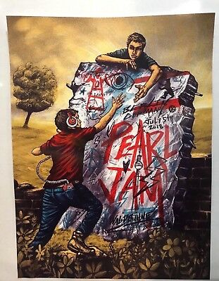 Pearl Jam Berlin Germany Walbuhne Authentic Zeb Love Gig Poster July 5 2018