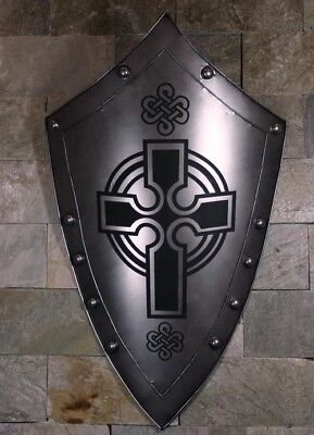 D1 Europe Battle Medieval Shield Antique Knight Armour Wall Home Decor Full Size