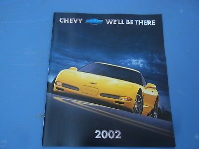 2002 Chevy Chevrolet Corvette, Impala, Malibu Dealer Sales-Showroom Brochure