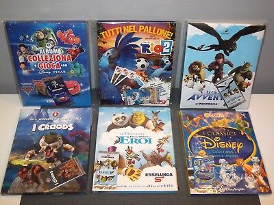 Lotto 6 album card Esselunga Disney Dreamworks Conad Panorama Croods