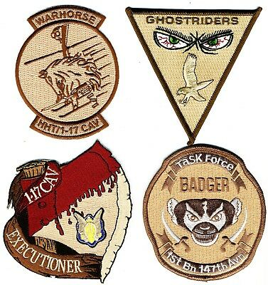 US Army Aviation Patches: Army Aviation and Cavalry Grouping 4 patches