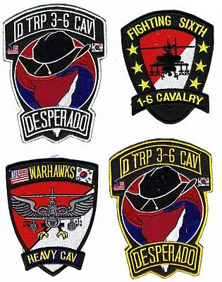 US Army Patch: Air Cavalry Patches.  Total of 4 Patches. Grouping Patch Lot 2