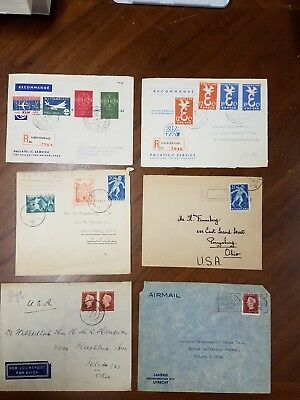 Netherlands Stamps on Covers Netherlands Postal History 87 Covers Free Shipping