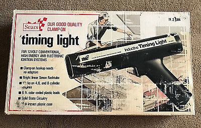 Vintage Sears Inductive Timing Light With Original Box And Instructions 28-21684