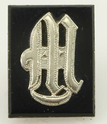 Antique 10k Solid Gold Monogram Initial M Set in an Onyx Loose Gemstone