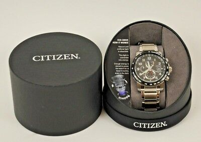 Brand New Citizen Eco Drive At8124-83E Global Radio Control Sapphire Men's Watch