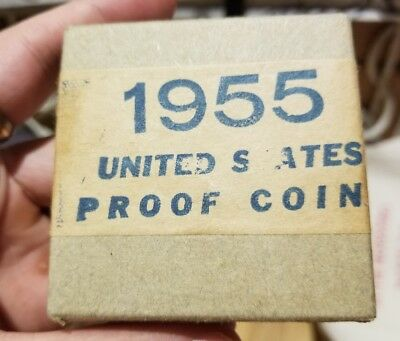 Sealed! 1955 United States Mint 5-Coin Silver Proof Set Original Us Mint Box